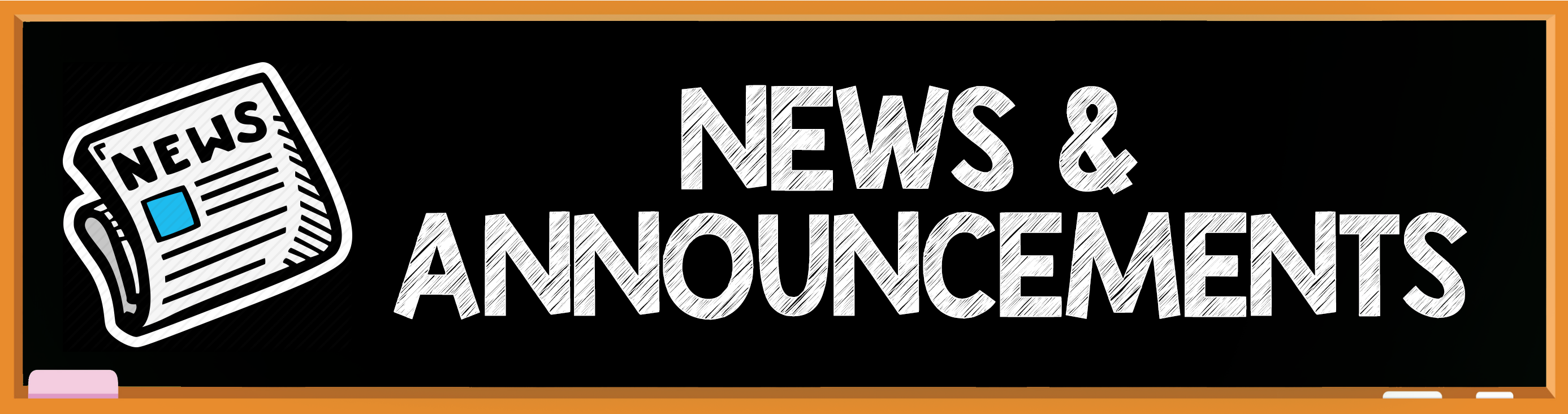 News & Announcements header
