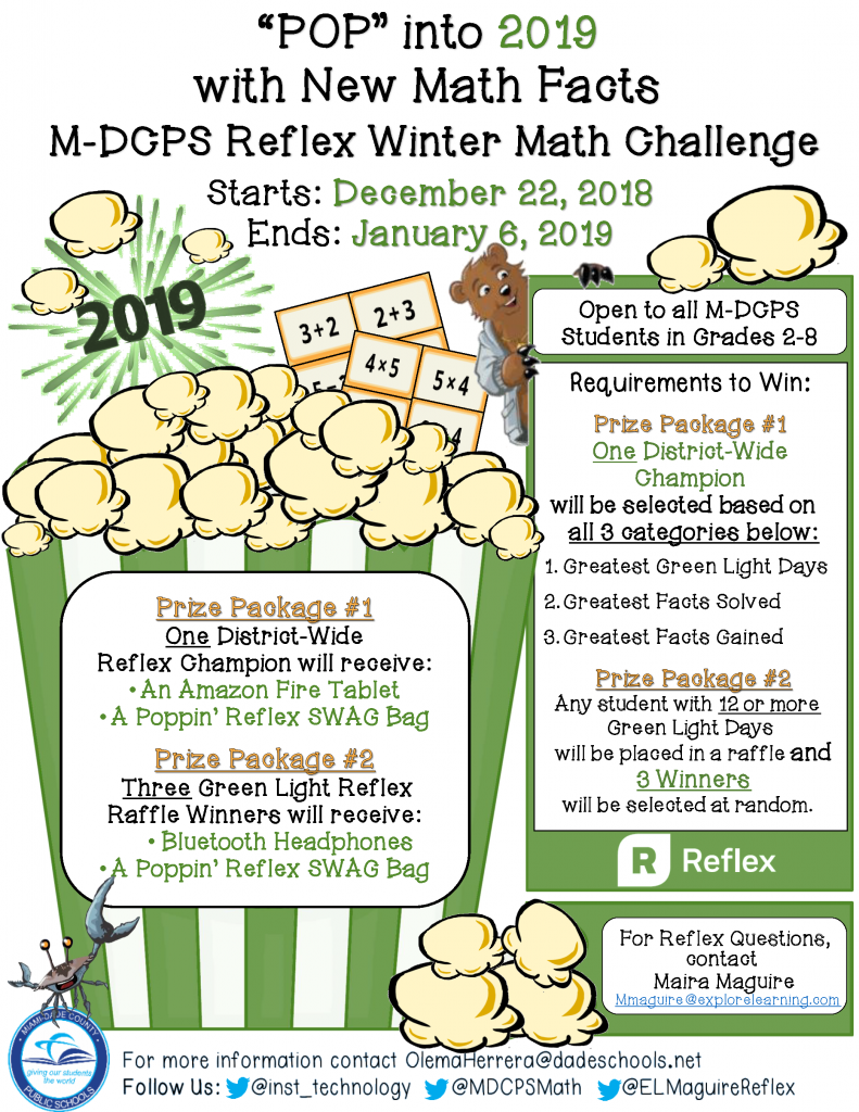 Pop into 2019 with New Reflex Math Facts