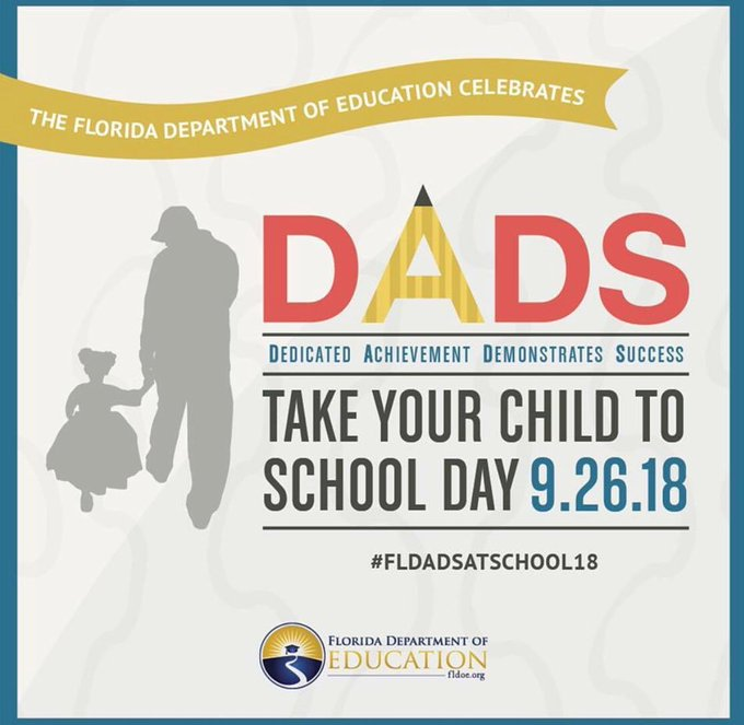DADS take your child to school day post image