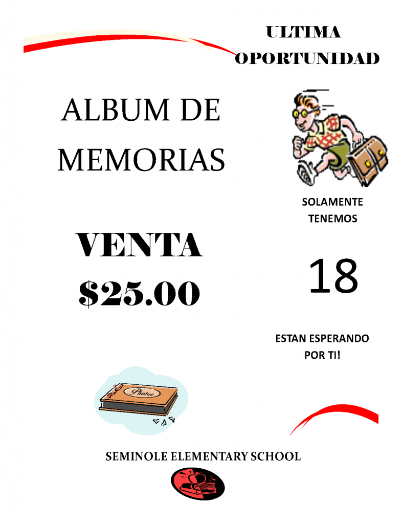 Memory Book Flyer Spanish